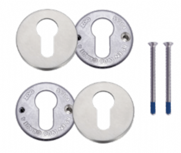 ZG4S001 - Heavy Duty Bolt Through Euro Escutcheons
